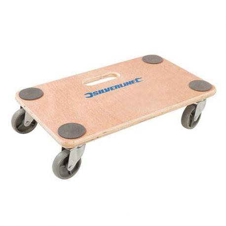 Chariot plateforme à roulettes 150 kg