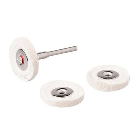 3 disques de polissage D. 25 mm sur tige 3,17 mm pour outil multifonction
