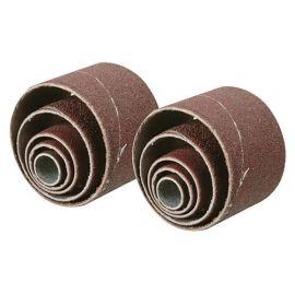 10 manchons abrasifs Grain 80, 2  de D. 13 , 19, 25 et 38 mm