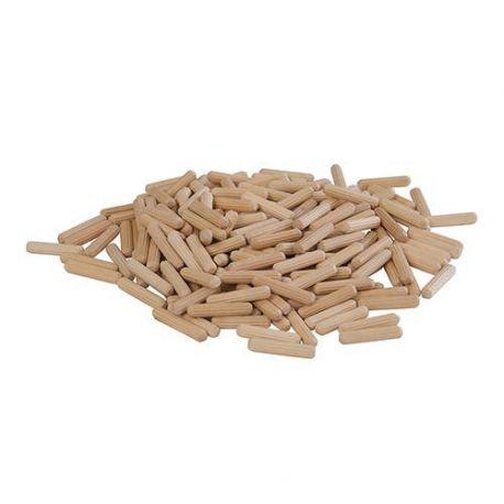 200 chevilles bois canelées D. 10 x 40 mm