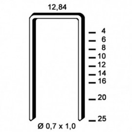 10 000 agrafes A-14 INOX A4 (316) - 12,84 x 14 x D. 0,7 x 1 mm - 6A-149A4 - Alsafix