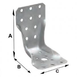 Ancrage de type KRT (H x L x l x ép) 95 x 90 x 65 x 3,0 mm ATE - KRT6755 - Alsafix