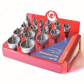 Coffret 15 trépans HSS-Co 8% PERFECTA D. 20 à 60 x Ht. 15 mm - PFESP015 - Martin