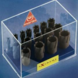 Coffret 16 fraises à carotter TCT EXTREME D. 14 à 36 x Ht. 40 x Q. Weldon 19 mm - EXTESP16 - Martin