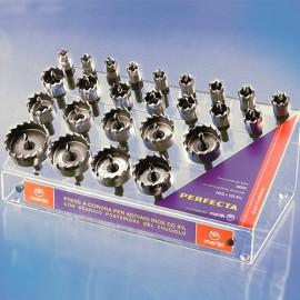 Coffret 27 trépans HSS-Co 8% PERFECTA D. 13 à 60 x Ht. 15 mm - PFESP027 - Martin