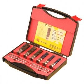 Coffret 6 fraises à carotter HSS EXTREME GOLD D. 14 à 26 x Ht. 40 x Q. Quick In + 4 éjecteurs - EXGQ406 - Martin