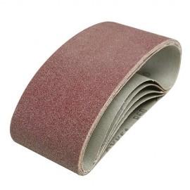 5 bandes abrasives corindon 75 x 457mm Grains assortis : 40, 60, 2 x 80 et 120 - 760354 - Silverline