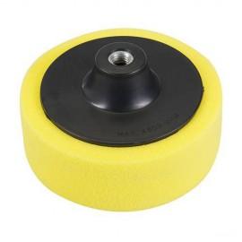 Éponge de polissage jaune D. 150 x 38 mm M14 semi-ferme - 761182 - Silverline