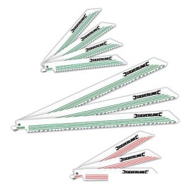 Assortiment de 10 lames de scie sabre Bois/Métal - 783087 - Silverline