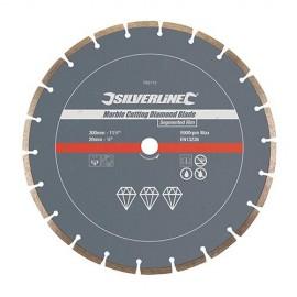 """Disque diamant segmenté """"PRO"""" D. 300 x 20 x 7 mm pour le marbre, granit - 783113 - Silverline"""
