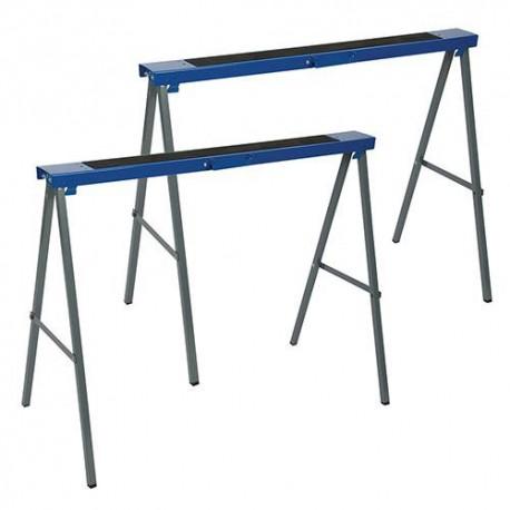 2 tréteaux métalliques 125 kg, Hauteur de travail : 995 mm - 783160 - Silverline