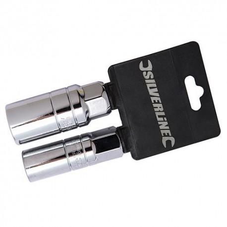 """2 douilles à bougie 1/2"""" de D. 16 et 21 mm - 793760 - Silverline"""