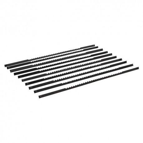 10 lames à ergots pour scie à chantourner 130 mm 14 TPI - 793823 - Silverline