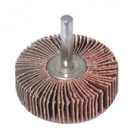 Roue à lamelles abrasives D. 50 mm Grain 80 sur tige - 823535 - Silverline