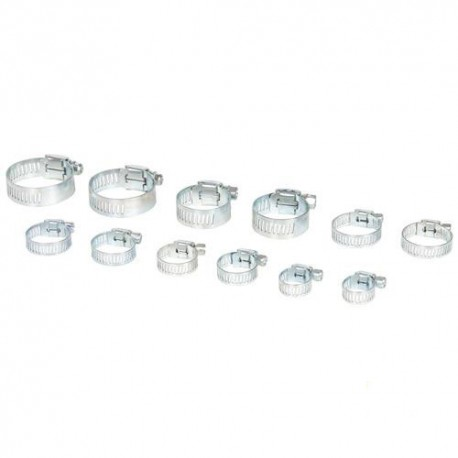 12 colliers de serrage métallique - 831428 - Task