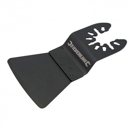 Lame spatule rigide HCS 52 x 30mm pour outil oscillant - 832637 - Silverline