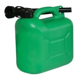 Bidon à carburant plastique 5 L Vert - 847074 - Silverline