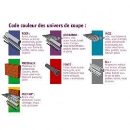 Disque à tronçonner EXPERT ACIER D. 115 x 3 x Al. 22,23 mm - Acier, métaux ferreux - 10111004 - Sidamo