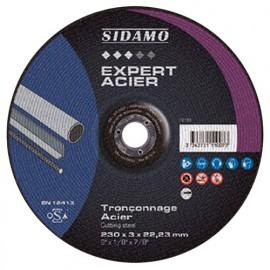 Disque à tronçonner EXPERT ACIER D. 230 x 3 x Al. 22,23 mm - Acier, métaux ferreux - 10111007 - Sidamo