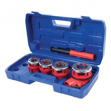 Coffret de filières de plombier D. 13, 19, 25 et 32 mm - 868556 - Silverline