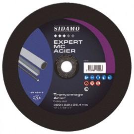 Disque à tronçonner EXPERT MC ACIER D. 350 x 3 x Al. 25,4 mm - Acier, métaux ferreux - 10111053 - Sidamo