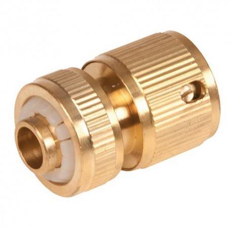 """Raccord rapide en laiton 1/2"""" pour tuyau d'arrosage - 868573 - Silverline"""