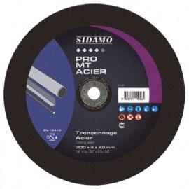 Disque à tronçonner PRO MT ACIER D. 350 x 4 x Al. 20 mm - Acier, métaux ferreux - 10111058 - Sidamo