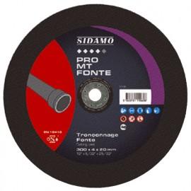 Disque à tronçonner PRO MT FONTE D. 300 x 4 x Al. 20 mm - Fonte - 10111060 - Sidamo