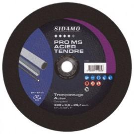 Disque à tronçonner PRO MS ACIER TENDRE D. 400 x 4 x Al. 25,4 mm - Acier, métaux ferreux - 10111066 - Sidamo