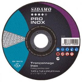 25 disques à tronçonner PRO INOX D. 125 x 1,6 x Al. 22,23 mm - Inox - 10111040 - Sidamo