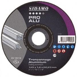 25 disques à tronçonner PRO ALU D. 125 x 1,6 x Al. 22,23 mm - Aluminium - 10111046 - Sidamo