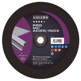 10 disques à tronçonner PRO MC ACIER INOX D. 300 x 2,8 x Al. 25,4 mm - Acier, Inox - 10111054 - Sidamo