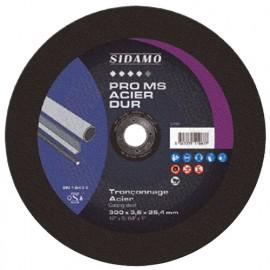 10 disques à tronçonner PRO MS ACIER DUR D. 350 x 4 x Al. 25,4 mm - Acier, métaux ferreux - 10111068 - Sidamo