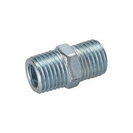 """Coupleur rapide L. 25 mm à deux extrémités filetées 1/4"""" BSP pour tuyau air comprimé - 868632 - Silverline"""