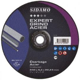 10 disques à ébarber EXPERT GRIND ACIER D. 230 x 6,4 x Al. 22,23 mm - Acier - 10222008 - Sidamo
