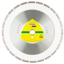 Disque diamant DT 350 U D. 350 x 3 x Ht. 10 x 25,4 mm - Béton, Matériaux de construction - 336221 - Klingspor