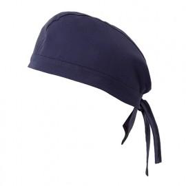 Bandana de cuisine 65% polyester 35% coton 190 gr/m2 - Bleu Marine - 404002 - Velilla