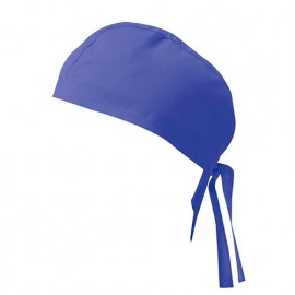 Bandana de cuisine 65% polyester 35% coton 190 gr/m2 - Bleu Outremer - 404002 - Velilla