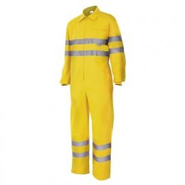 Bleu de travail haute visibilité 80% polyester 20% coton 210 gr/m2 - Jaune Fluo - 150 - Velilla