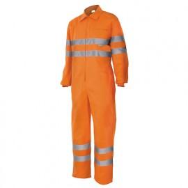 Bleu de travail haute visibilité 80% polyester 20% coton 210 gr/m2 - Orange Fluo - 150 - Velilla