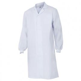 Blouse agroalimentaire avec fermeture à boutons-pression 65% polyester 35% coton 190 gr/m2 - Blanc - 259001 - Velilla