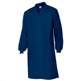 Blouse agroalimentaire avec fermeture à boutons-pression 65% polyester 35% coton 190 gr/m2 - Bleu Marine - 259001 - Velilla