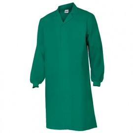 Blouse agroalimentaire avec fermeture à boutons-pression 65% polyester 35% coton 190 gr/m2 - Vert - 259001 - Velilla