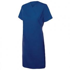 Blouse croisée femme agroalimentaire 65% polyester 35% coton 104 gr/m2 - Bleu Marine - 259002 - Velilla