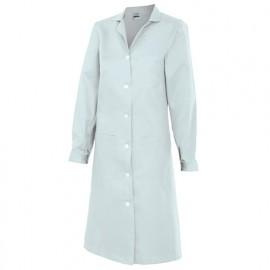 Blouse d'entretien et industrielle manches longues 3 poches femme 65% polyester 35% coton 175 gr/m2 - Blanc - 908 - Velilla