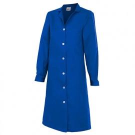 Blouse d'entretien et industrielle manches longues 3 poches femme 65% polyester 35% coton 175 gr/m2 - Bleu Azur - 908 - Velilla