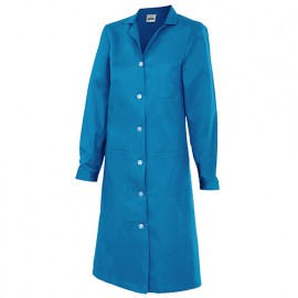 Blouse d'entretien et industrielle manches longues 3 poches femme 65% polyester 35% coton 175 gr/m2 - Bleu Ciel - 908 - Velilla