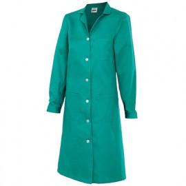 Blouse d'entretien et industrielle manches longues 3 poches femme 65% polyester 35% coton 175 gr/m2 - Vert - 908 - Velilla