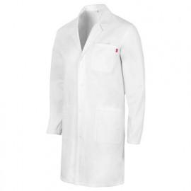 Blouse d'entretien et santé à boutons-pression 3 poches unisexe 100% coton 190 gr/m2 - Blanc - 539005 - Velilla