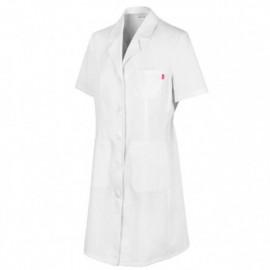 Blouse d'entretien et santé manches courtes 3 poches femme 65% polyester 35% coton 190 gr/m2 - Blanc - 539003 - Velilla